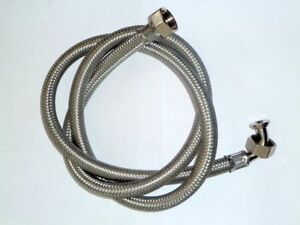 stainless steel braided washing machine hose ebay. Black Bedroom Furniture Sets. Home Design Ideas