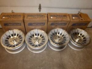 NOS SHELBY CARROLL VX VANE WHEELS 15X7 5 BOLT TURBINE RIMS