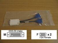 Molex DMS-59 to Dual 2 x VGA Splitter cable 887-6852-00 Rev.B