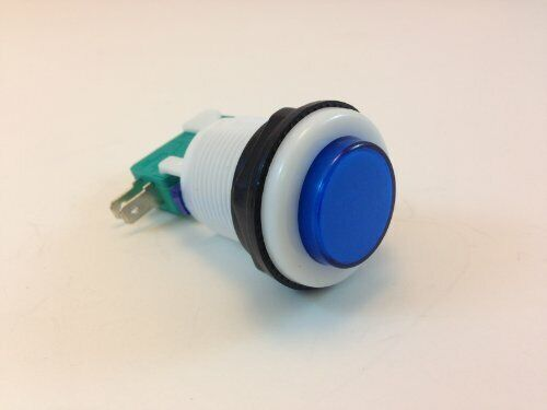 ILLUMINATED GAMING BUTTON (MOMENTARY) COLOR VARIANCE (1 SINGLE, BLUE)