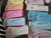 Vintage Bank Checks