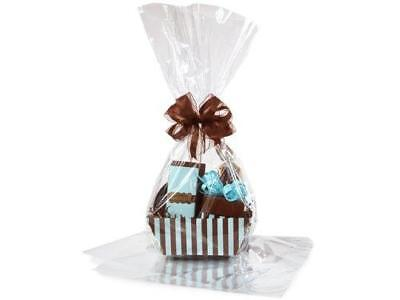 Cellophane Basket Bags (Large 18 In X 30 In Clear Cellophane Bags Gift Basket Bags Cello Gift Bags)