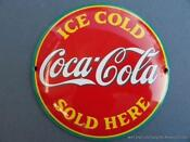 Coca Cola Enamel Signs