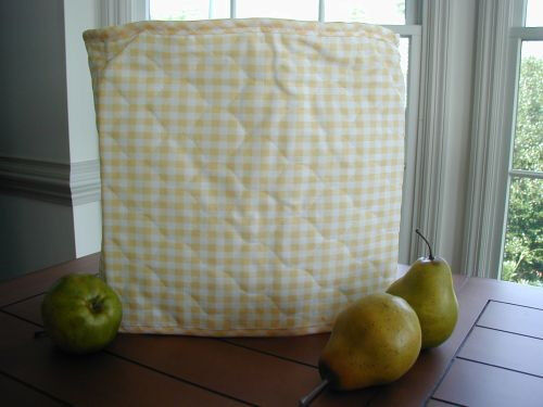 Yellow Gingham 6 Qt Round Crock Pot Etc Appliance Cover