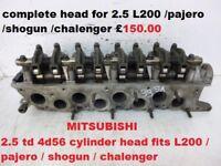 Mitsubishi Pajero Challenger l200 2.5td 4D56 complete cylinder head