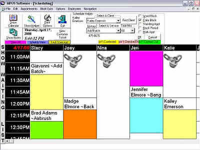 SALON SPA RETAIL NAILS SCHEDULING HAIR POS SOFTWARE