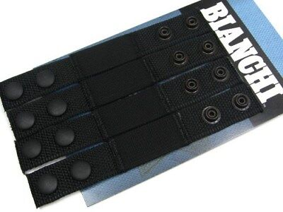 Bianchi 31428 Black 8006i Belt Keeper W Snap Closure - 4 Pack