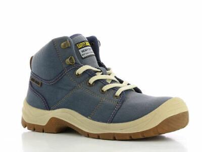 Toe Desert Boot (Men Work Boot Safety Jogger Desert Hi Top Steel Toe Navy Dark Navy 100%)