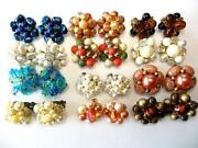 Vintage Cluster Earring Lot