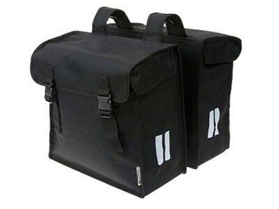 Basil Mara XXL schwarz 47 liter Doppelpacktasche Fahrrad Gepäckträger Tasche