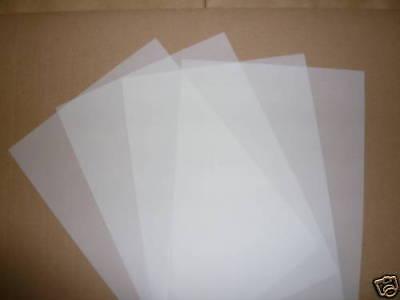 50 SHEETS A4 TRANSLUCENT PAPER / VELLUM 110gsm CRAFT