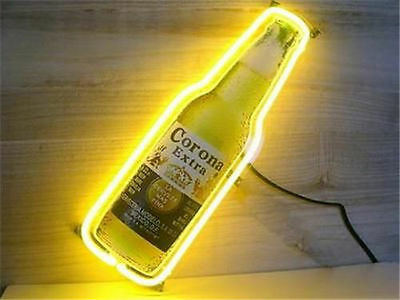 Bottle bar light sign coronaebay new corona extra bottle beer pub bar club real glass neon light sign 14x5 mozeypictures Images