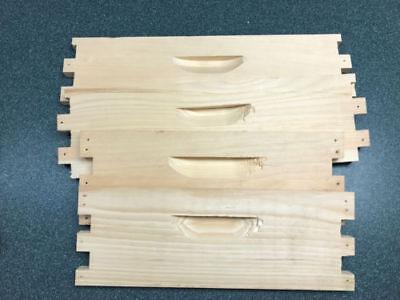 1 Unassembled Medium 8 Frame Honey Super Langstroth Beehive Box Select Pine