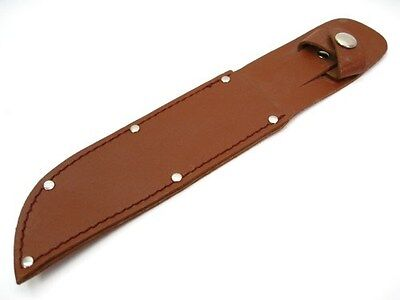"BROWN Leather Belt SHEATH For Straight Fixed Knife Up To 6"" Blade SH259 New!"