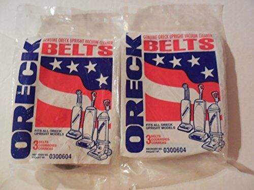 Oreck XL 030-0604 Upright Vacuum Belts 6-Pack