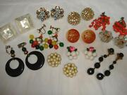 Vintage Flower Earring Lot