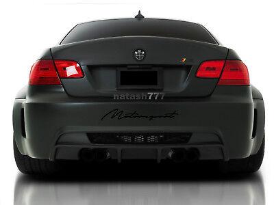 MOTORSPORT Performance Racing Car Decal sticker emblem logo BLACK Fits: BMW