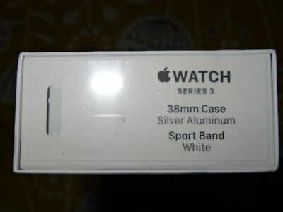 Brand New Sealed Apple Watch Series 3 38mm Silver White Sport Band Aluminium
