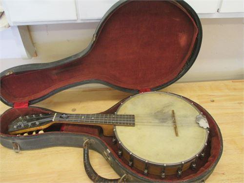 RARE Vintage S S Stewart Imperial Banjeaurine 8 string banjo classic circa 1800s