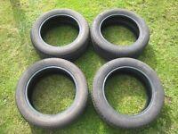 Set of 4 Bridgestone Tyres 205/55R 16 91V Excellent condition