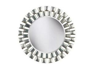 NEW Kenroy Home Gilbert Wall Mirror with Silver Finish, 36-Inch Diameter