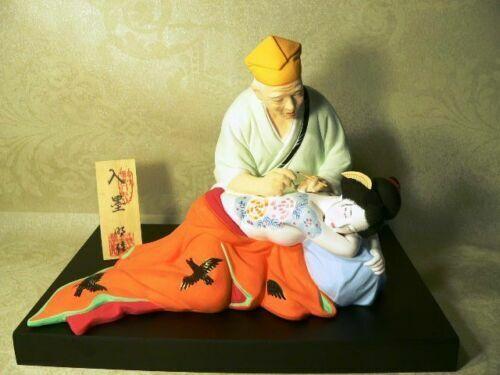 Japanese Hakata Doll Tattoo Artist Geisha Woman Collectible Doll RARE