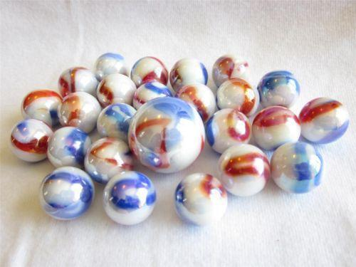Red White Blue Marble Ebay