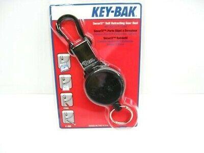 Key-bak 488b Black Securit Retractable 48 Cord Key Ring Carabiner Reel