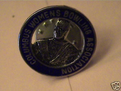 COLUMBUS WOMEN'S BOWLING ASSOCIATION RARE OLD PIN 1ONLY