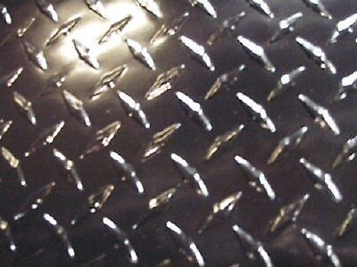 Aluminum Diamond Plate Painted Black .045 X 21 14 X 48 1a