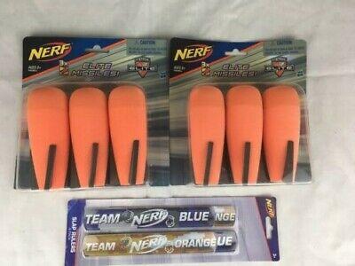 NERF N-Strike Elite Series Mega Missiles Bombs 2 x 3 Packs (6 Total) +Free Gift!