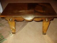 Antique brass fireside stool