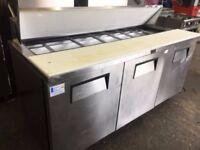 3 Door Refrigerated Saladette Counter