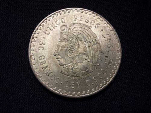 1947 5 Pesos Mexico Ebay