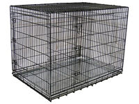 54 inch HUGE DOG CRATE - CAGE - has a divider - kennel crate cage
