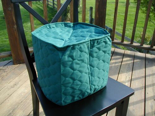 Hunter Green Appliance Cover 6 Qt round crockpot Solid, quilted fabric LAST ONE