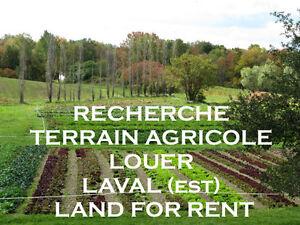 Terrains louer-Agricole-Rent Agricultural Land-Laval/Lanaudière