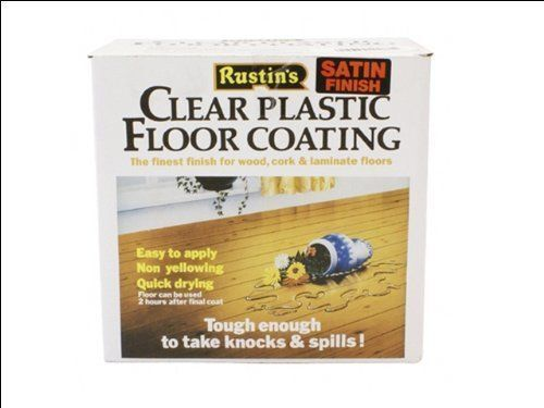 Rustins Clear Plastic Floor Coating in Various Sizes and Finishes
