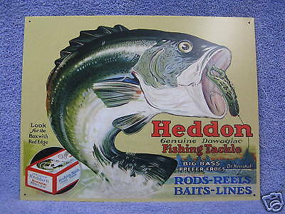 Heddon Frogs Fishing Tackle Bait Tin Metal Sign Fish (Frogs Tin Sign)