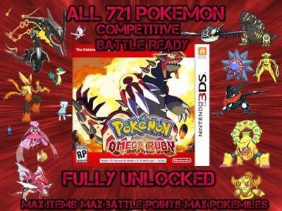 CUSTOM Pokemon Omega Ruby Unlocked   All 721 Shiny Pokemon   All Items! (Customize Items)