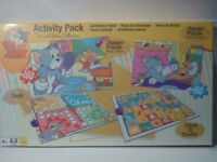Tom and Jerry Activity Pack - NEW - Jigsaw & Board Games, Ludo, Climb & Tumble (Snakes and Ladders)