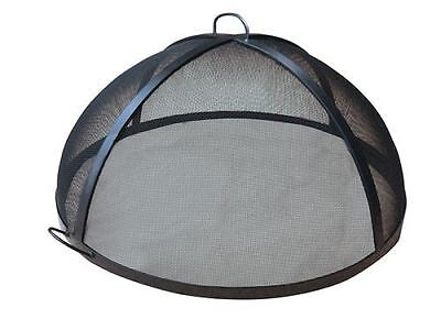 """36"""" Welded HYBRID Steel Lift Off Dome Fire Pit Safety Screen"""