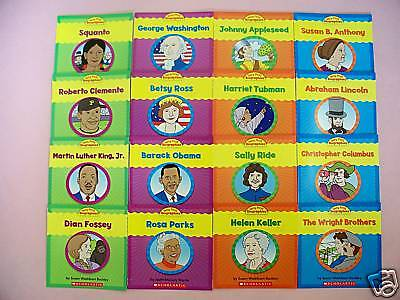 Very First Biography Childrens Books Learn to Read Nonfiction Lot 16