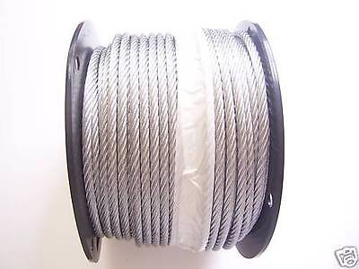 Galvanized Wire Rope Cable 38 7x19 50 100 150 200 250 500 Ft
