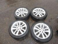 "Vauxhall Sri Sxi 17""Alloy Wheels 5 Stud With Tyres Astra H Vectra C Zafira B"