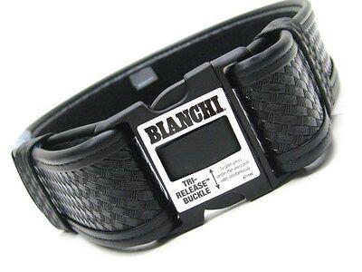 "BIANCHI Medium 34""-40"" Waist Black 7950 Basketweave ACCUMOLD ELITE Duty Belt!"
