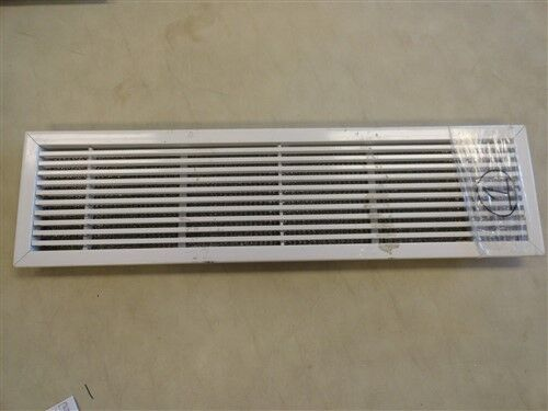 """AIR VENT COVER WITH FILTER OFF WHITE ALUMINUM 25 7/8"""" X 6 7/8"""" MARINE BOAT"""