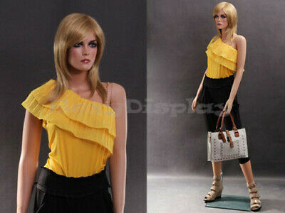 Female Fiberglass Mannequin Beautiful Face With Elegant Pose Style Mz-lisa2
