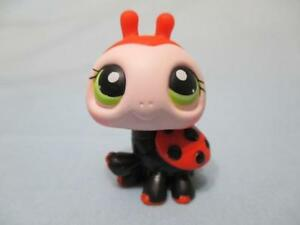 Littlest Pet Shop Ladybug Red and Black  with Lime Green Eyes 221 Authentic Lps