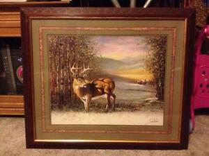 home interior deer picture